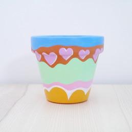 HEY CUTIE Painted Pot