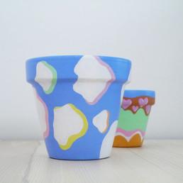 CLOWD Painted Pot