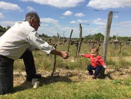 Bernard Coudert et son petit fils Raphaë