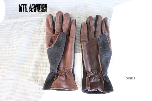 ROYAL CANADIAN AIR FORCE COLD WEATHER FLYER'S GLOVES SIZE LARGE RCAF