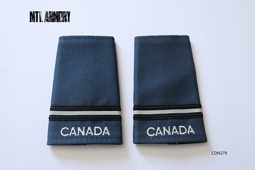 ROYAL CANADIAN AIR FORCE BLUE & PEARL 2ND LIEUTENANT EPAULETTES RCAF SLIP ONS
