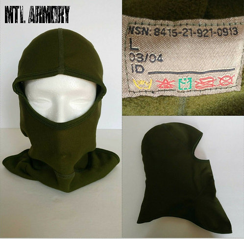 CANADIAN FORCES ISSUED OD 1 HOLE BALACLAVA