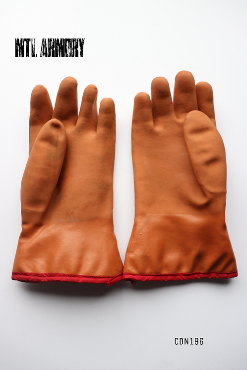 CANADIAN FORCES ISSUED RUBBER INSULATED GLOVES SIZE MEDIUM