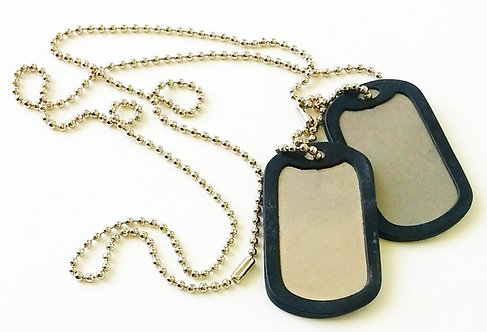 US NEW DOG TAG WITH SILENCER