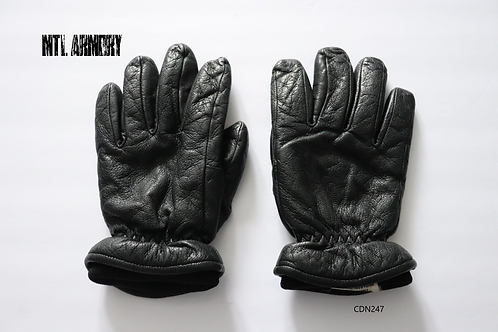 CANADIAN FORCES BLACK LEATHER COLD WEATHER GLOVES SIZE LARGE