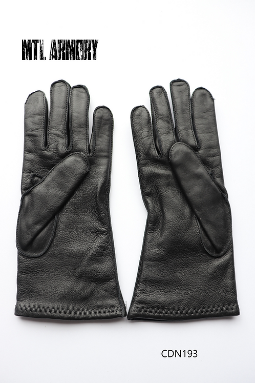CANADIAN FORCES BLACK LEATHER GLOVES SIZE 7 1/2 SMALL