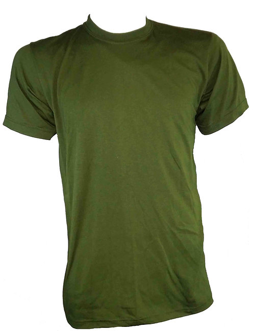 MILITARY STYLE ROUND NECK OD T-SHIRT