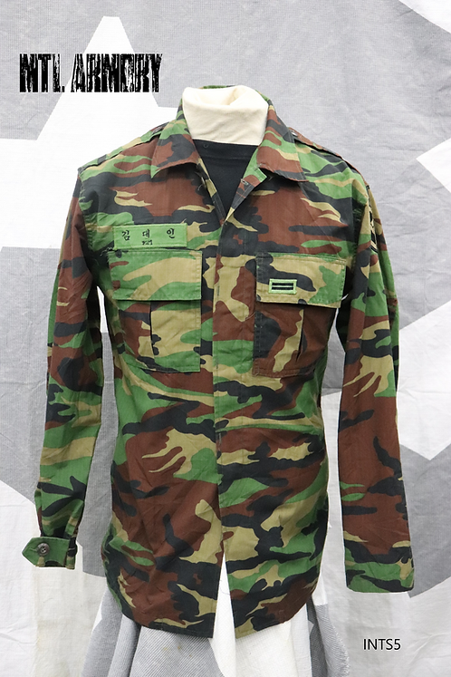 KOREAN MILITARY COMBAT SHIRT ROK ARMY SIZE SMALL (95 KOREAN)