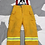 Thumbnail: CANADIAN DEPARTMENT OF NATIONAL DEFENCE FIREFIGHTER BIB COVERALLS   SIZE 7034