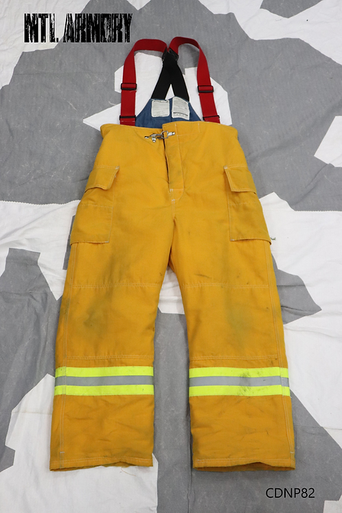 CANADIAN DEPARTMENT OF NATIONAL DEFENCE FIREFIGHTER BIB COVERALLS   SIZE 7034