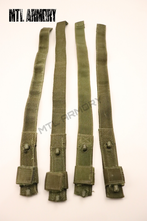 CANADIAN FORCES 82 PATTERN WEBBING ASSEMBLY HOOK STRAPS SET OF 4