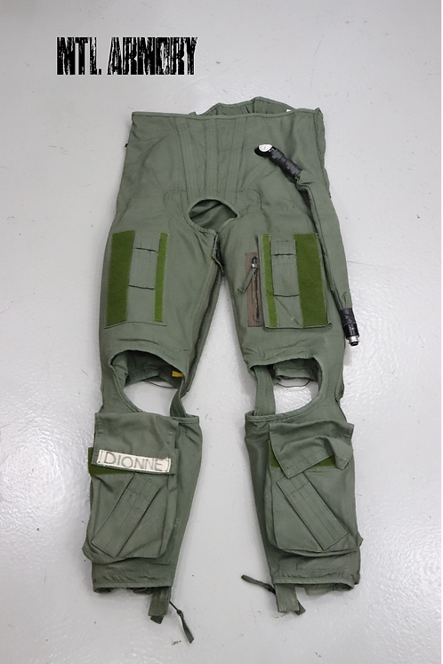 ROYAL CANADIAN AIR FORCE ISSUED ANTI-G PANTS SIZE L-XL