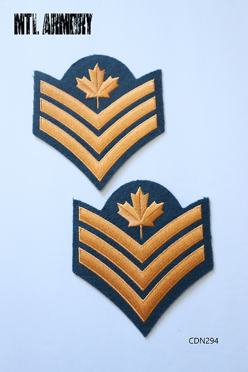 ROYAL CANADIAN AIR FORCE SERGENT DRESS PATCH PAIR RCAF