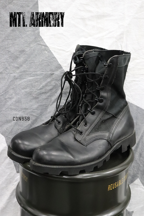 CANADIAN FORCES ISSUED BLACK JUNGLE BOOTS SIZE 9W