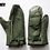 Thumbnail: CANADIAN FORCES GREEN LEATHER MITTENS WITH WOOL LINERS SIZE LARGE