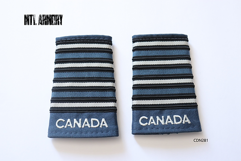 ROYAL CANADIAN AIR FORCE BLUE & PEARL COLONEL EPAULETTES RCAF SLIP ONS
