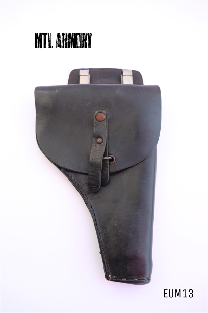 ITALIAN ISSUED BLACK LEATHER POLICE HOLDSTER