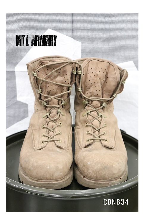 CANADIAN ISSUED HOT WEATHER COMBAT BOOTS SIZE 275/100