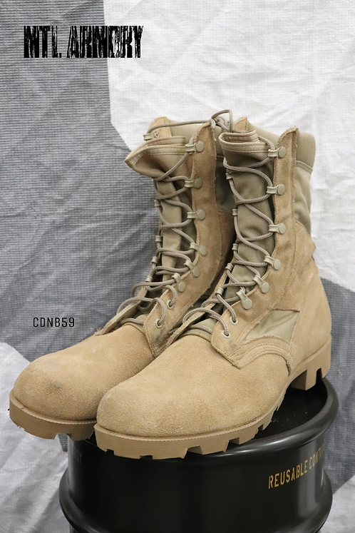 CANADIAN FORCES ISSUED TAN DESERT BOOTS SIZE 13 R