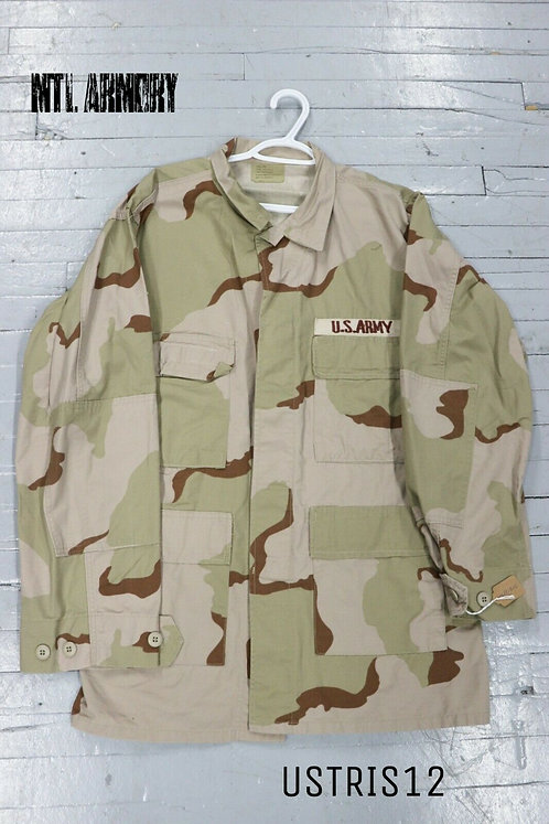 US ISSUED TRI COLOR DESERT CAMO SHIRT SIZE LARGE-LONG