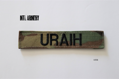 "OCP US ARMY NAME TAG  ""URAIH"" PATCH"