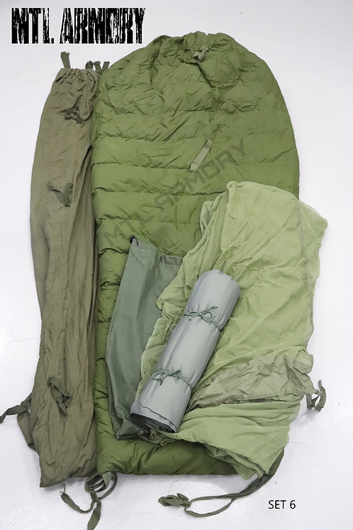 CANADIAN FORCES 5 PCS COLD WEATHER SLEEPING BAG SYSTEM