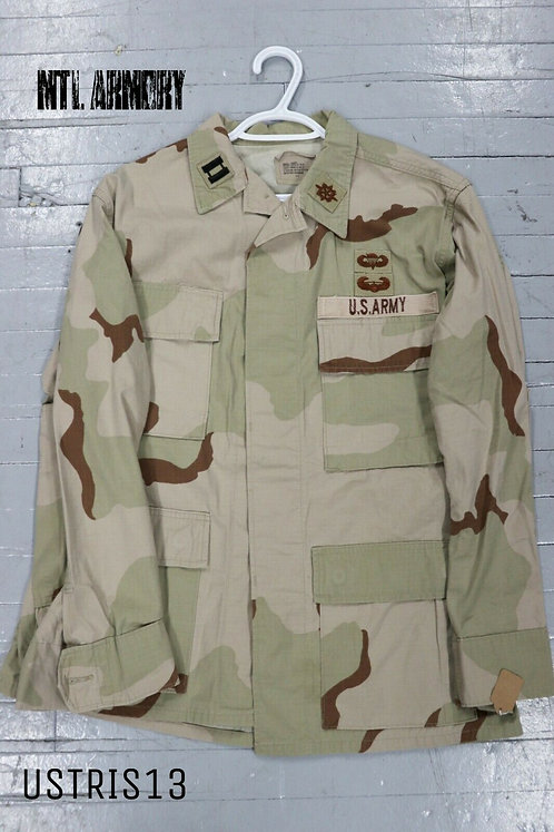 US ISSUED TRI COLOR DESERT CAMO SHIRT SIZE SMALL-SHORT