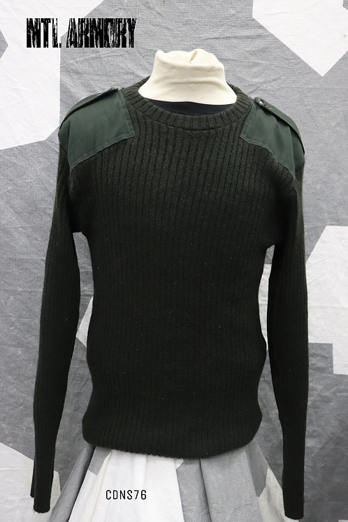 CANADIAN FORCES GREEN 100% WOOL COMBAT SWEATER SIZE 46