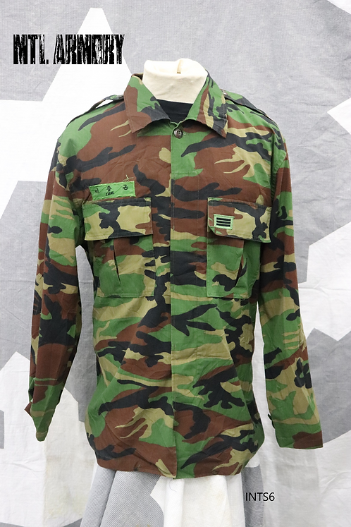 KOREAN MILITARY COMBAT SHIRT ROK ARMY SIZE XLARGE (110 KOREAN)