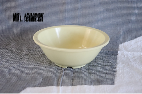 CANADIAN FORCES ISSUED YELLOW MELMAC BOWL