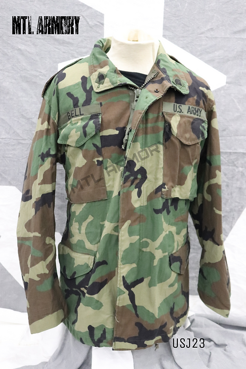 US ARMY WOODLAND M65 JACKET SIZE MEDIUM-REGULAR