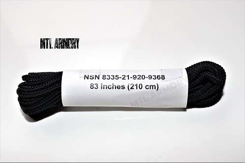 """NEW CANADIAN FORCES BLACK 83"""" COMBAT BOOT LACES"""