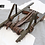 Thumbnail: VINTAGE SWISS WOODEN RACK WITH LEATHER SHOLDER STRAPS