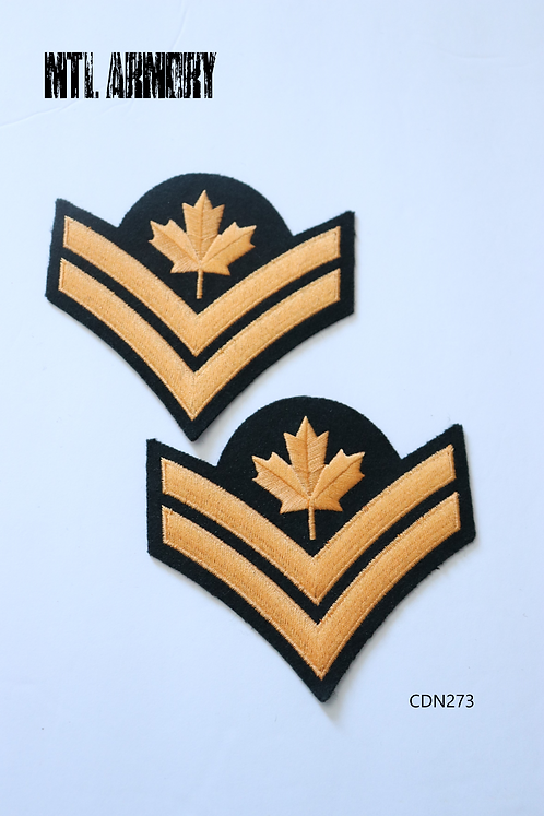 CAF MASTER CORPORAL DRESS PATCHES SET OF 2
