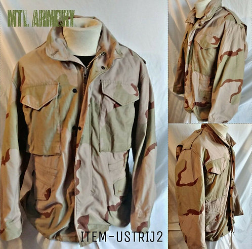 US ARMY TRI COLOR DESERT CAMO M65 JACKET SIZE SMALL-XSHORT