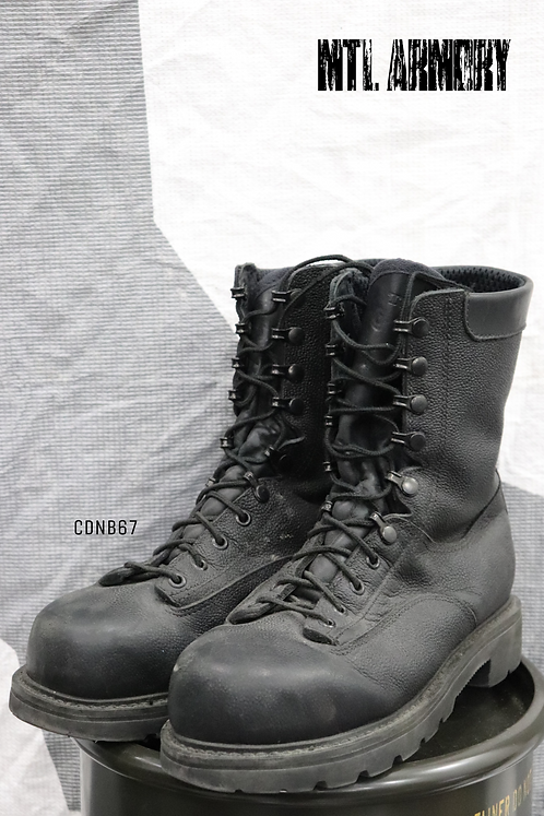 CANADIAN FORCES BLACK STEEL TOE BOOTS SIZE ( 260 / 98 )