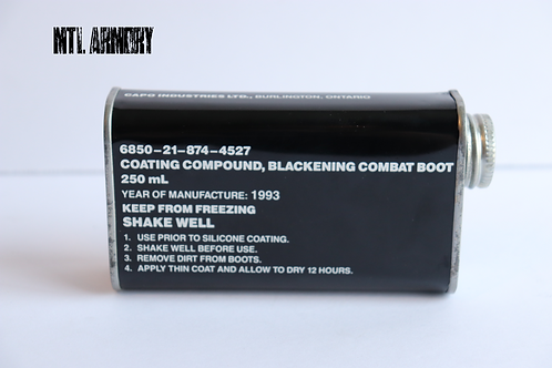 CANADIAN  COMBAT BOOTS BLACKENING COMPOUND