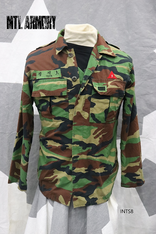 KOREAN MILITARY COMBAT SHIRT ROK ARMY SIZE SMALL (90 KOREAN)