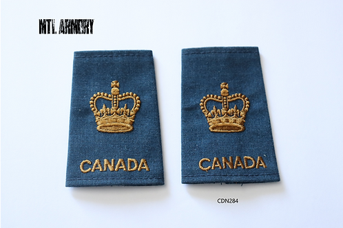 ROYAL CANADIAN AIR FORCE WARRENT OFFICER EPAULETTES RCAF SLIP ONS
