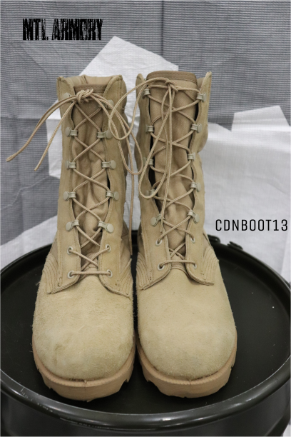 CANADIAN ISSUED TAN JUNGLE BOOTS SIZE 10W