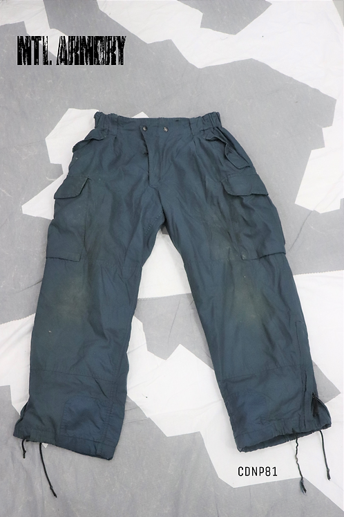 RCAF BLUE GORE-TEX COLD WEATHER PANTS SIZE 7038