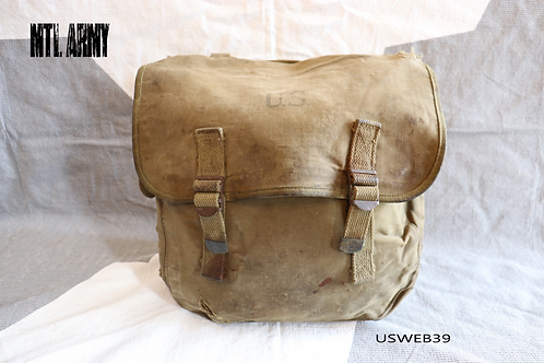 US WW2 Military Canvas Field Musette