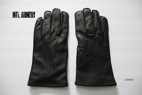 CANADIAN FORCES BLACK LEATHER GLOVES SIZE 10