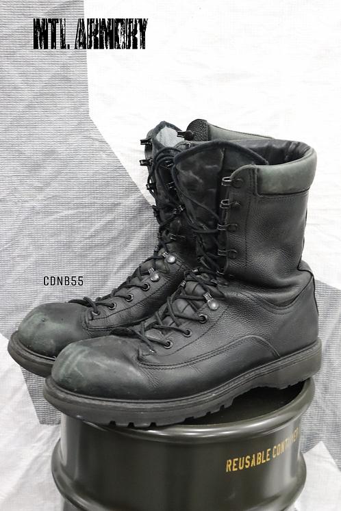 CANADIAN FORCES BLACK GORE-TEX COMBAT BOOTS SIZE ( 275 / 100  )