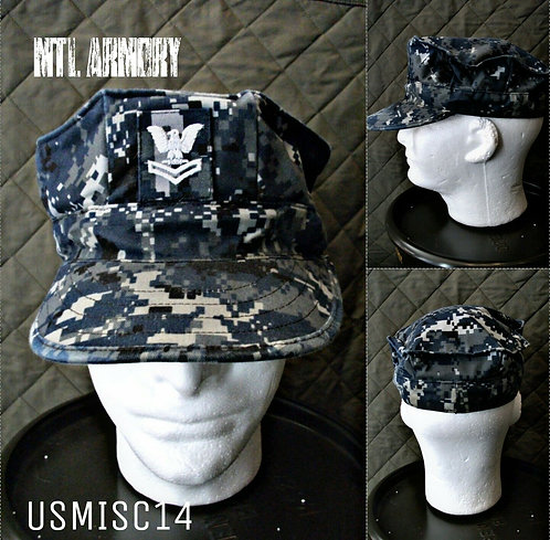 USN ISSUED NWU TYPE 1 BDU HAT SIZE 7 3/8