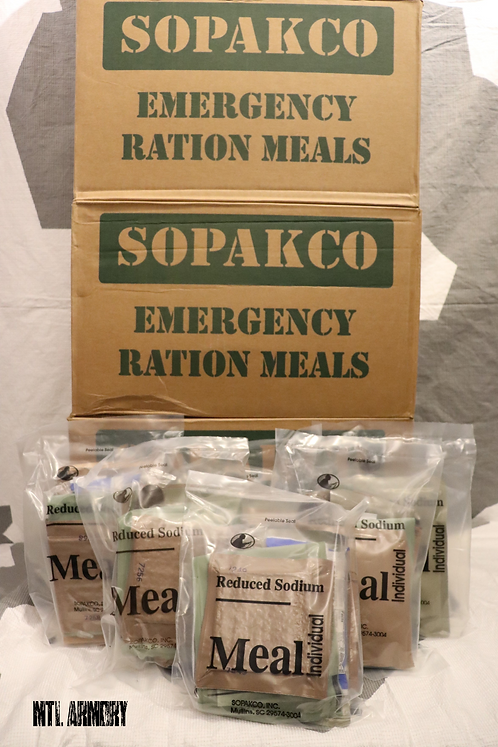 SOPAKCO REDUCED SODIUM MRE WITH FLAMELESS HEATER