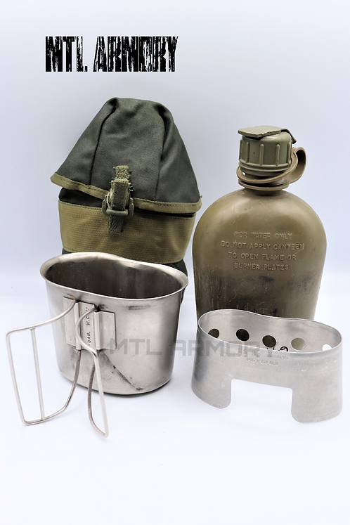 CANADIAN FORCES CANTEEN ,CUP AND STOVE WITH 82 PATTERN CARRIER