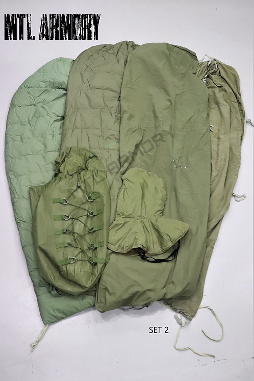 CANADIAN FORCES 6 PCS COLD WEATHER SLEEPING BAG SYSTEM