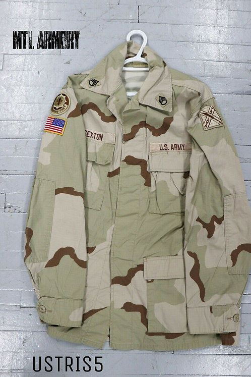 US ISSUED TRI COLOR DESERT CAMO SHIRT SIZE MEDIUM-LONG