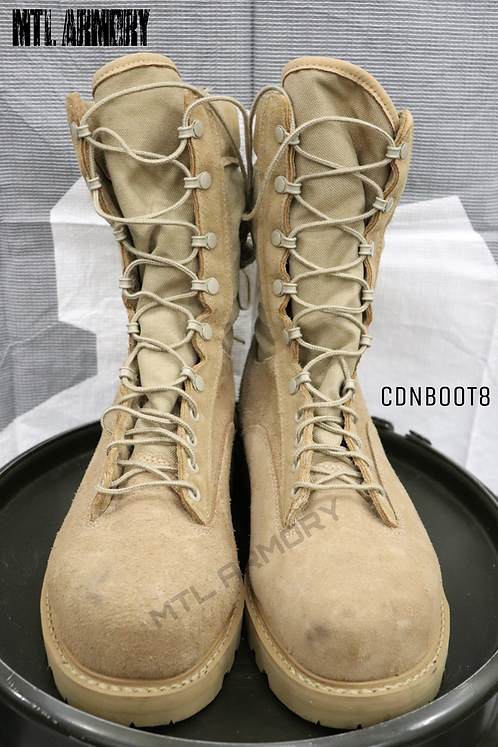 CANADIAN FORCES ISSUED TAN DESERT STEEL TOE BOOTS SIZE 10.5